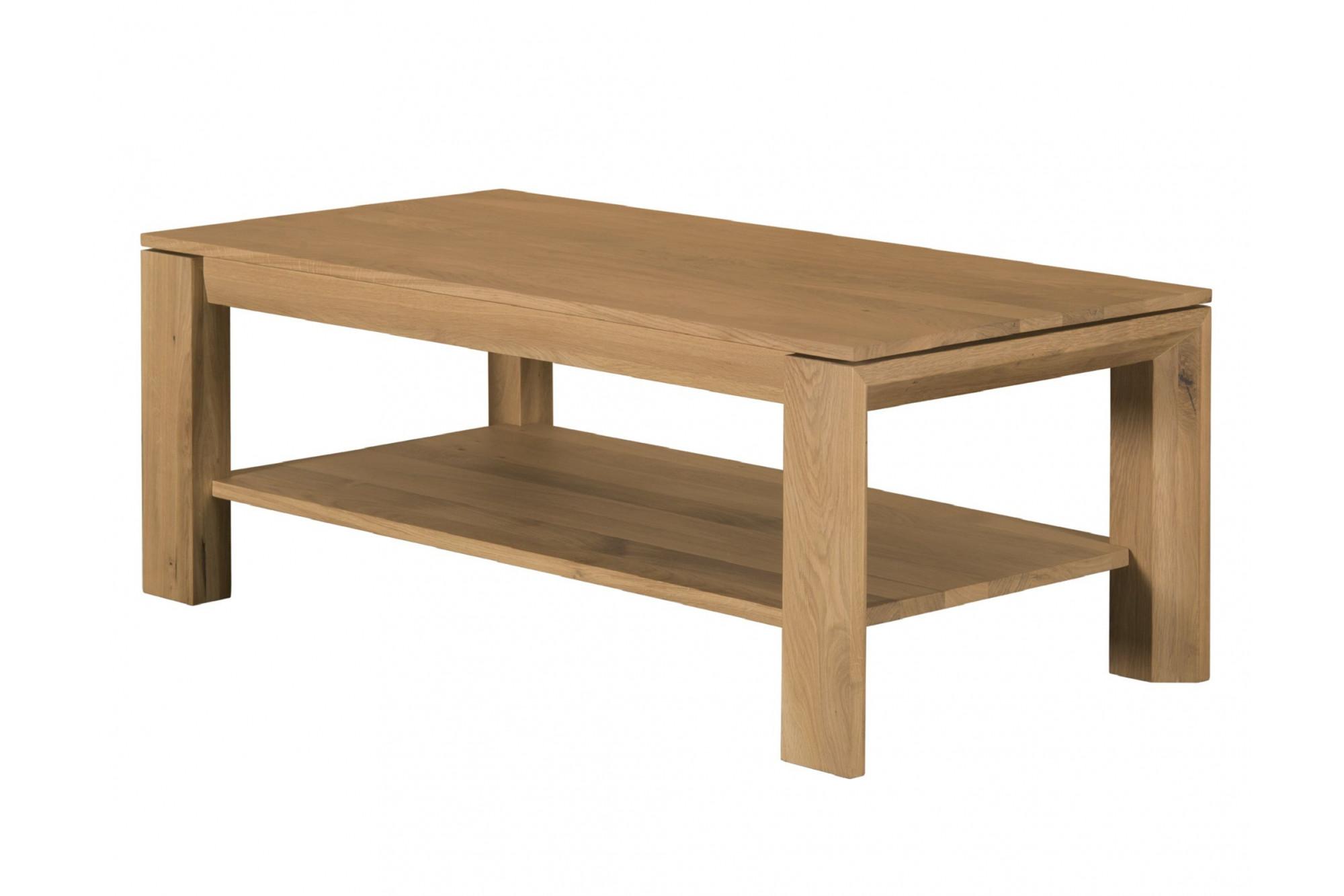 Table Basse En Chene Massif Gamme Filigrame Hellin