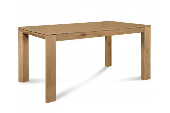 Table à manger extensible FILIGRAME en bois, finition chêne naturel