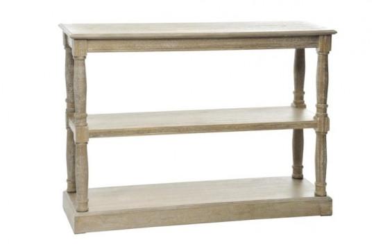Console en bois naturel blanchi - 3 niveaux