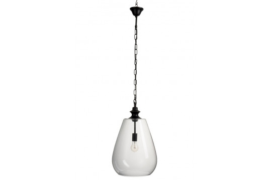Luminaire suspendu cloche en verre