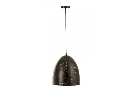 Luminaire suspendu en métal noir et doré