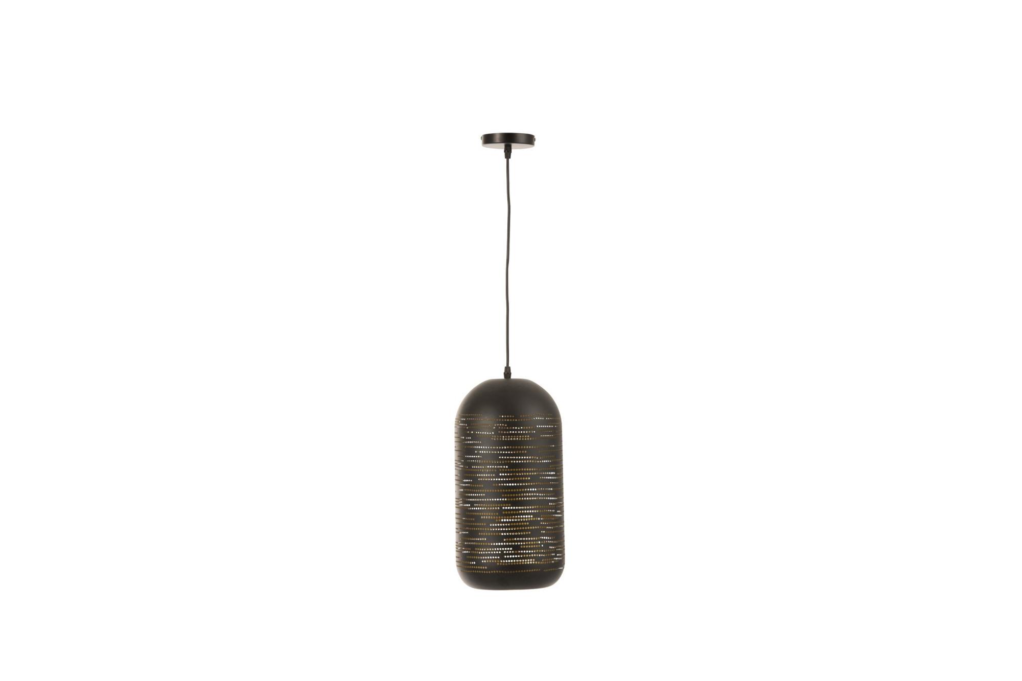 Lampe Suspendue Metal Noir Et Dore Hellin